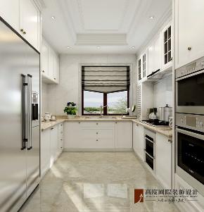 新古典 法式 别墅 跃层 复式 大户型 loft 80后 厨房图片来自高度国际姚吉智在泷悦长安500平米简约法式精致的分享