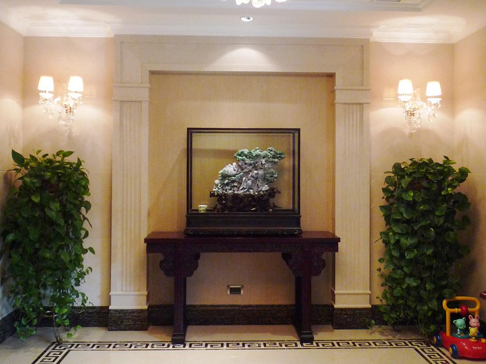 别墅装修 新古典 中式风格 腾龙设计 玄关图片来自孔继民在别墅装修中式风格完工实景展示!的分享