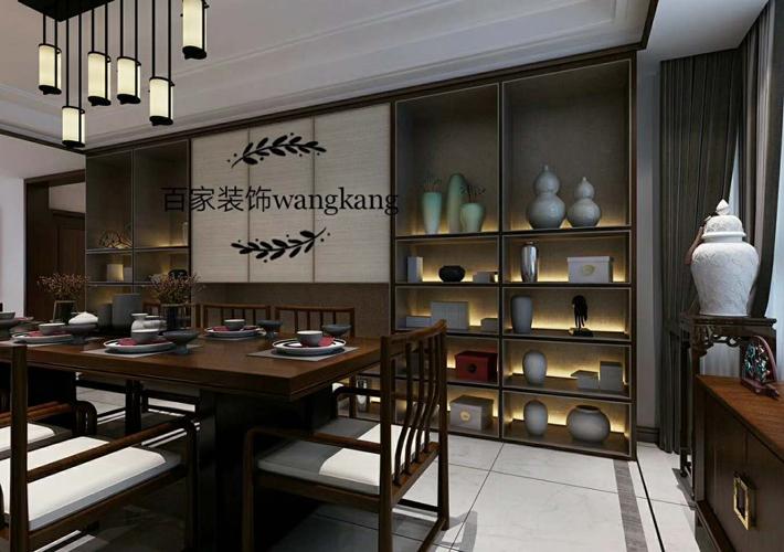 三居 江湾城 中式风格 餐厅图片来自百家设计小刘在保利达江湾城138平中式风格的分享