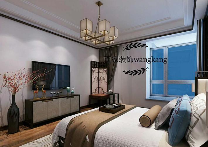三居 江湾城 中式风格 卧室图片来自百家设计小刘在保利达江湾城138平中式风格的分享