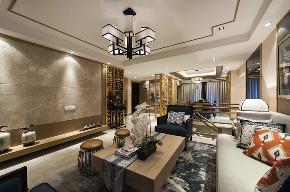 中式 四居 大户型 跃层 复式 80后 小资 客厅图片来自高度国际姚吉智在新中式生活美学 175平米大平层的分享