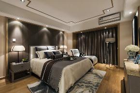 中式 四居 大户型 跃层 复式 80后 小资 卧室图片来自高度国际姚吉智在新中式生活美学 175平米大平层的分享