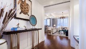 美式 现代 简约 大户型 复式 跃层 别墅 80后 小资 玄关图片来自高度国际姚吉智在210平米现代美式简约的优雅的分享