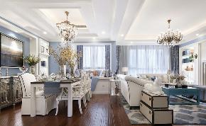 美式 现代 简约 大户型 复式 跃层 别墅 80后 小资 餐厅图片来自高度国际姚吉智在210平米现代美式简约的优雅的分享