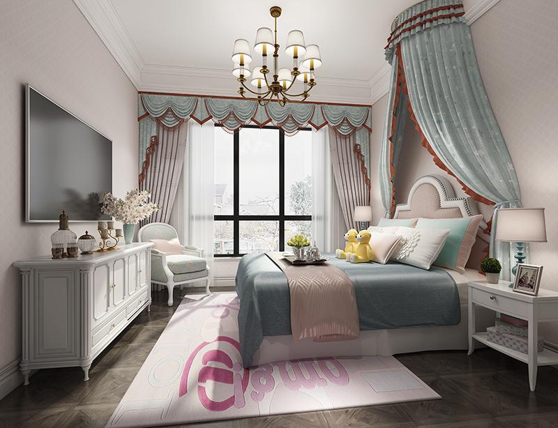 别墅装修 现代简欧 腾龙设计 大豪山林 卧室图片来自孔继民在大豪山林别墅项目装修欧美风格的分享