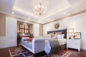 美式 现代 简约 大户型 复式 跃层 别墅 80后 小资 卧室图片来自高度国际姚吉智在210平米现代美式简约的优雅的分享