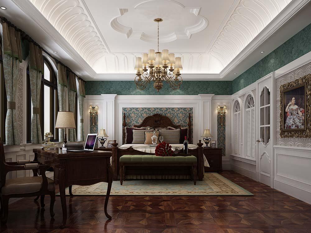 圣安德鲁斯 装修设计 欧美古典 腾龙设计 卧室图片来自孔继民在圣安德鲁斯庄园别墅新古典欧美的分享