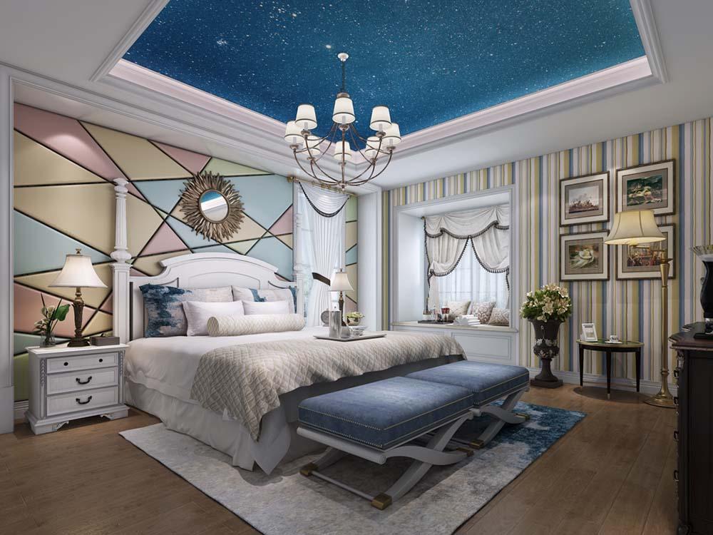 伊莎士花园 别墅装修 欧美风格 腾龙设计 卧室图片来自孔继民在伊莎士花园 别墅项目装修欧式的分享