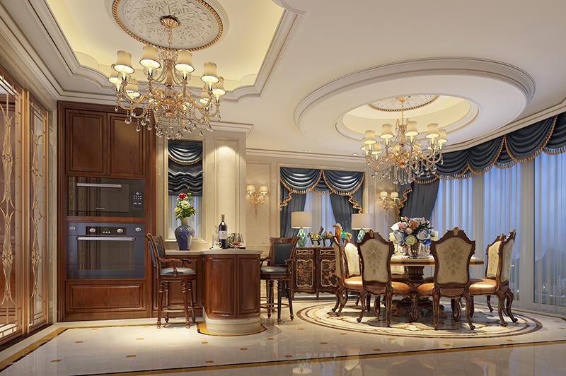 别墅装修 欧式古典 腾龙设计 餐厅图片来自孔继民在浩润苑 别墅装修欧式古典风格的分享