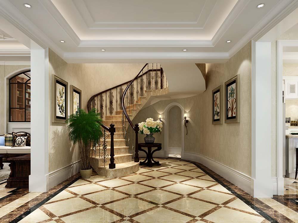 莫奈庄园 别墅装修 欧美风格 腾龙设计 楼梯图片来自孔继民在周浦莫奈庄园别墅简美风格设计的分享