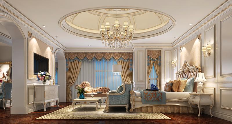别墅装修 欧式古典 腾龙设计 卧室图片来自孔继民在浩润苑 别墅装修欧式古典风格的分享