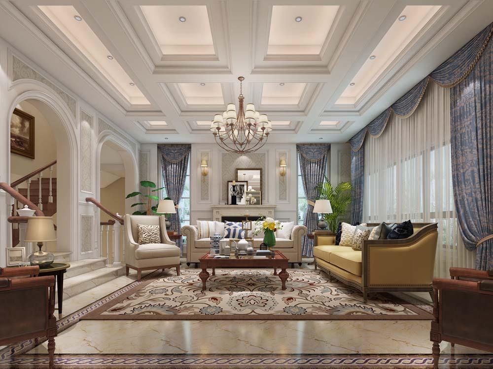 伊莎士花园 别墅装修 欧美风格 腾龙设计 客厅图片来自孔继民在伊莎士花园 别墅项目装修欧式的分享