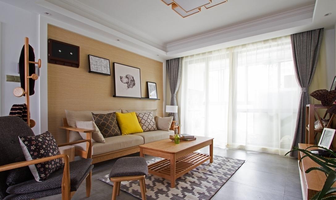 简约 三居 客厅图片来自言白设计在和式风格的分享