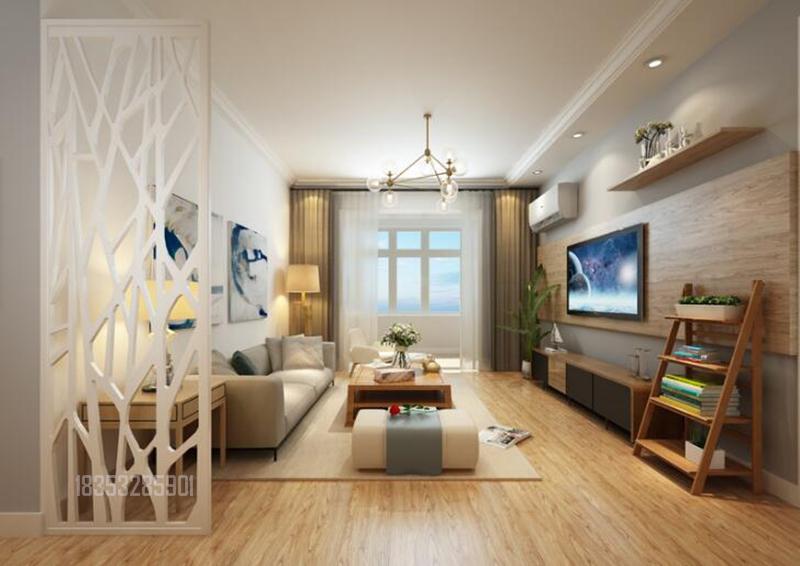 世纪公馆 106平装修 实创装饰 青岛装修 客厅图片来自实创装饰集团青岛公司在海尔世纪公馆106平现代简约的分享