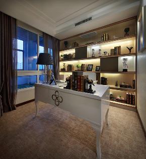 欧式 三居 四居 大户型 复式 跃层 白领 80后 小资 书房图片来自高度国际姚吉智在150平米欧式品质优雅之家的分享