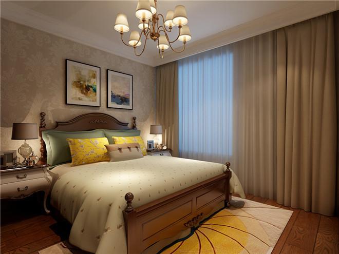 卧室图片来自装家美在中车国际广场121平米简约美式的分享