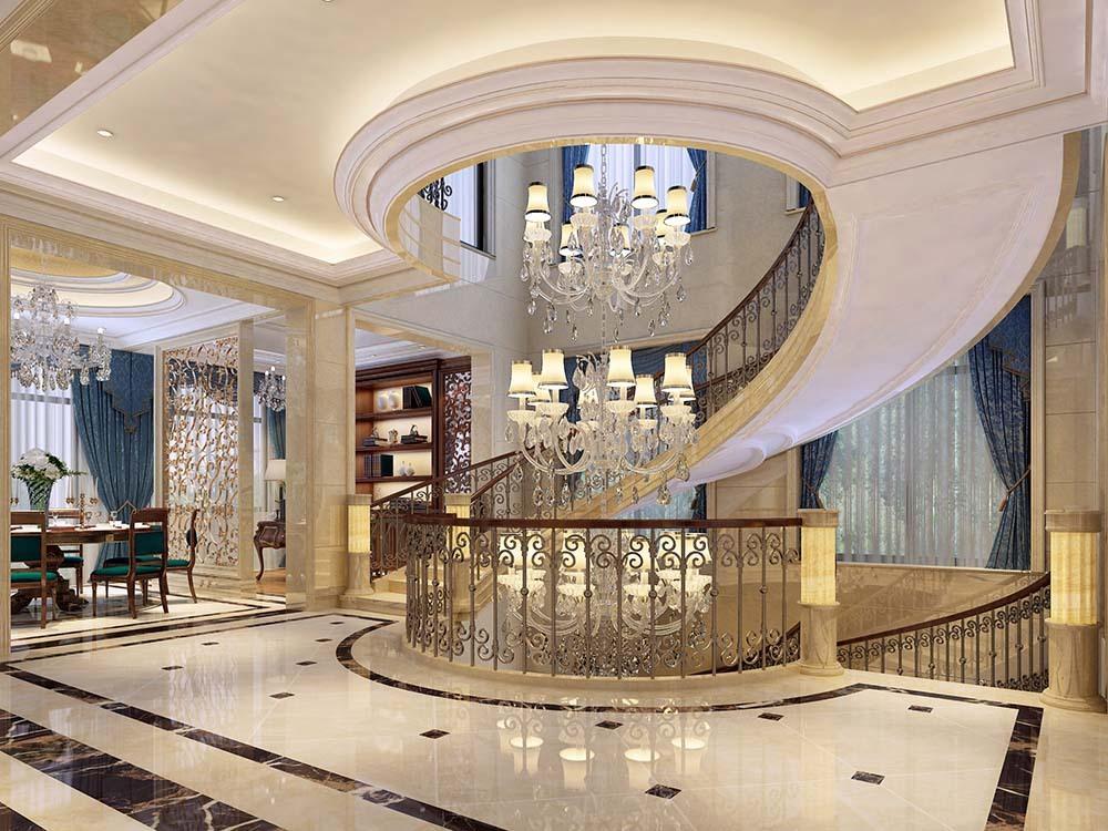 爱法奥朗庄 别墅装修 欧式古典 腾龙设计 楼梯图片来自孔继民在爱法奥朗庄园别墅项目装修设计的分享