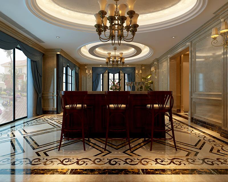 东园雅集轩 别墅装修 新古典风格 腾龙设计 餐厅图片来自孔继民在东园雅集轩别墅新古典风格设计的分享