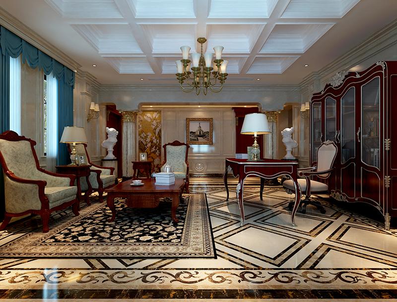 东园雅集轩 别墅装修 新古典风格 腾龙设计 客厅图片来自孔继民在东园雅集轩别墅新古典风格设计的分享