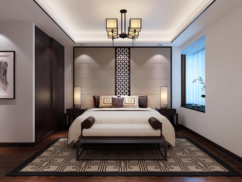 长提别墅 装修设计 现代风格 腾龙设计 卧室图片来自孔继民在长堤别墅装修新中式风格设计的分享