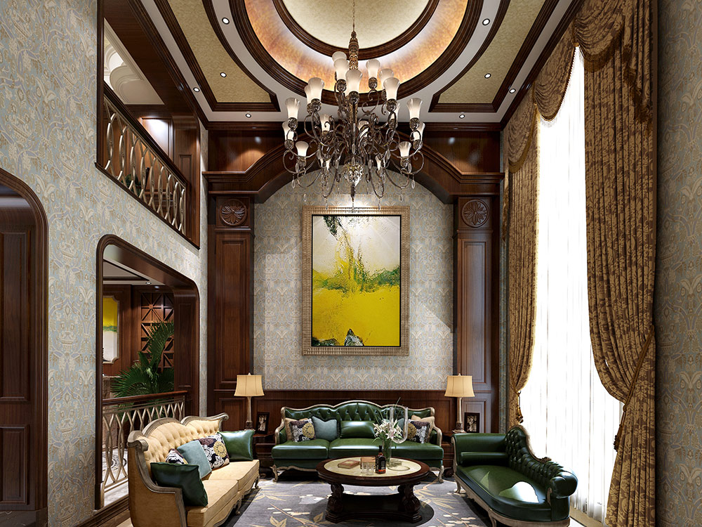 东郊壹号 别墅装修 欧美风格 腾龙设计 客厅图片来自孔继民在东郊壹号 500平别墅装修欧美风格的分享