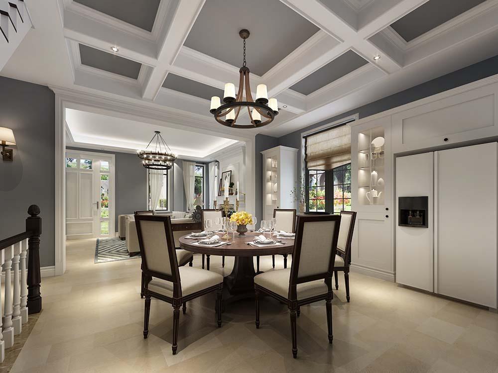 金领国际 别墅装修 欧美风格 腾龙设计 餐厅图片来自孔继民在金领国际别墅 250平别墅美式的分享