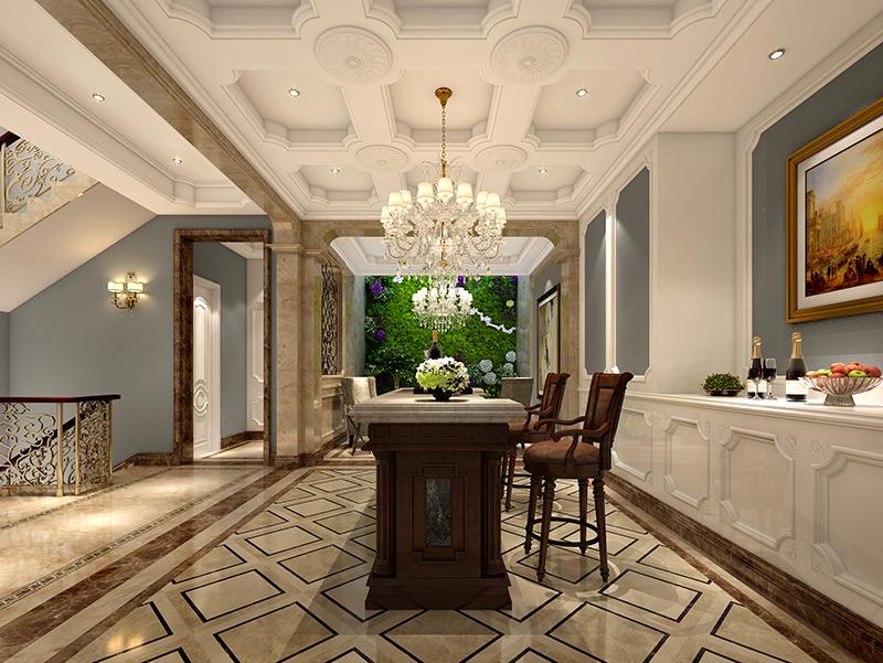 长堤花园 别墅装修 欧美风格 腾龙设计 厨房图片来自孔继民在长堤花园别墅项目装修欧美风格的分享