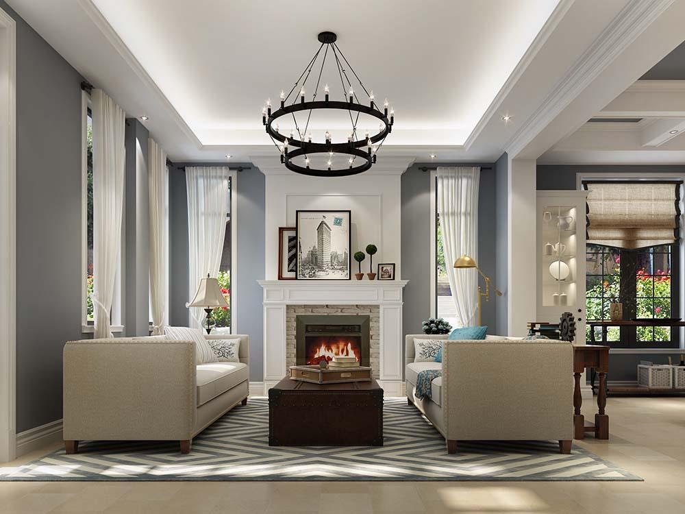 金领国际 别墅装修 欧美风格 腾龙设计 客厅图片来自孔继民在金领国际别墅 250平别墅美式的分享