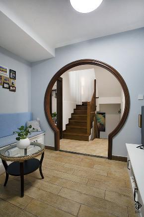 别墅 混搭 收纳 久栖设计 美式 楼梯图片来自久栖设计在【久栖设计】北京天恒乐墅(下)的分享