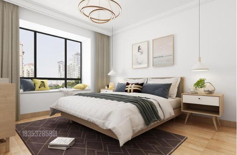 海右重华 93平装修 青岛装修 卧室图片来自实创装饰集团青岛公司在海右重华93平装修设计现代的分享