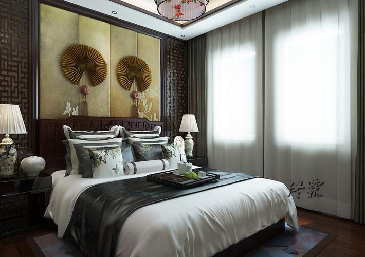 别墅 龙湖滟澜山 中式 卧室图片来自百家装饰LL在龙湖滟澜山的分享