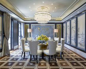 中式 别墅 跃层 复式 大户型 80后 小资 餐厅图片来自高度国际姚吉智在400平米新中式诗意居所的分享