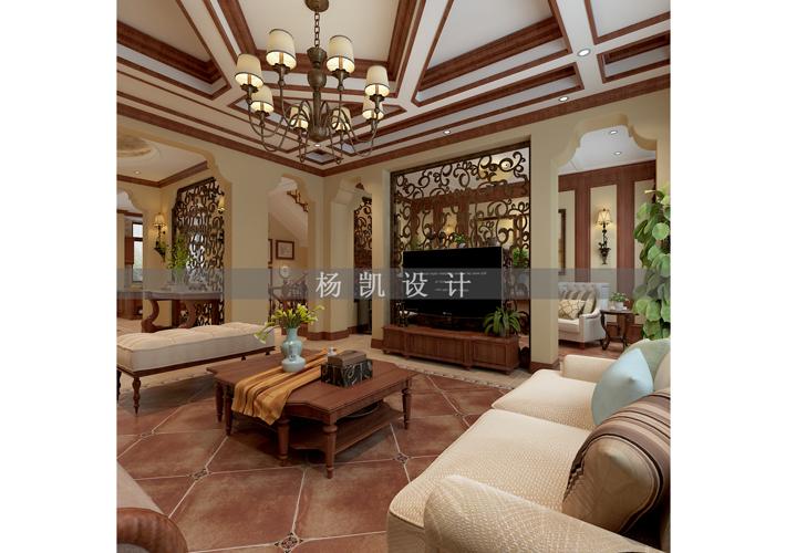 别墅 华润橡树湾 地中海风格 客厅图片来自百家设计小刘在华润橡树湾600平地中海风格的分享