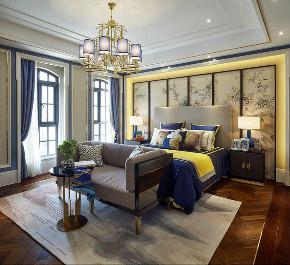 中式 别墅 跃层 复式 大户型 80后 小资 卧室图片来自高度国际姚吉智在400平米新中式诗意居所的分享
