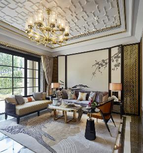 中式 别墅 跃层 复式 大户型 80后 小资 客厅图片来自高度国际姚吉智在400平米新中式诗意居所的分享