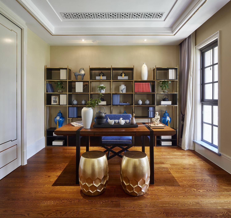 中式 别墅 跃层 复式 大户型 80后 小资 书房图片来自高度国际姚吉智在400平米新中式诗意居所的分享