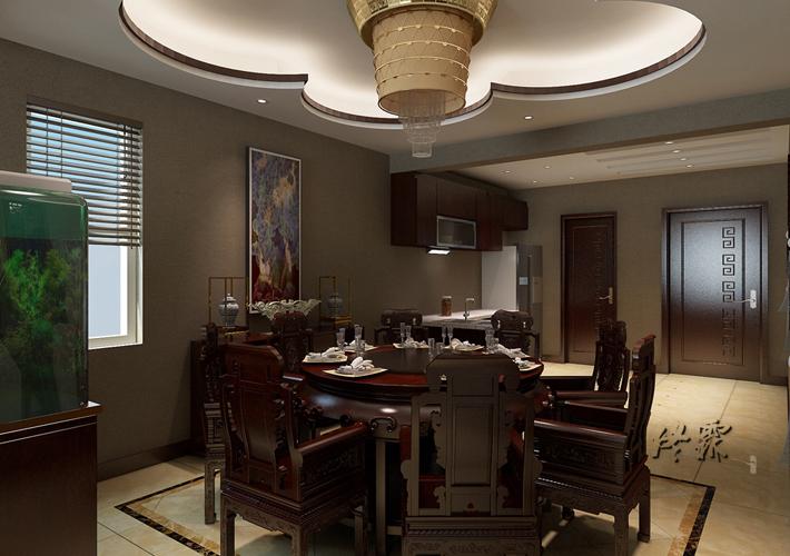 别墅 龙湖滟澜山 中式 餐厅图片来自百家装饰LL在龙湖滟澜山的分享