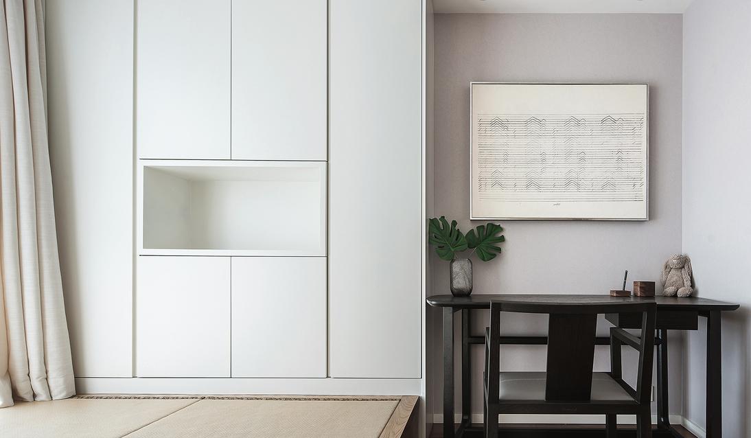 简约 四居 书房图片来自言白设计在静谧的优雅的分享
