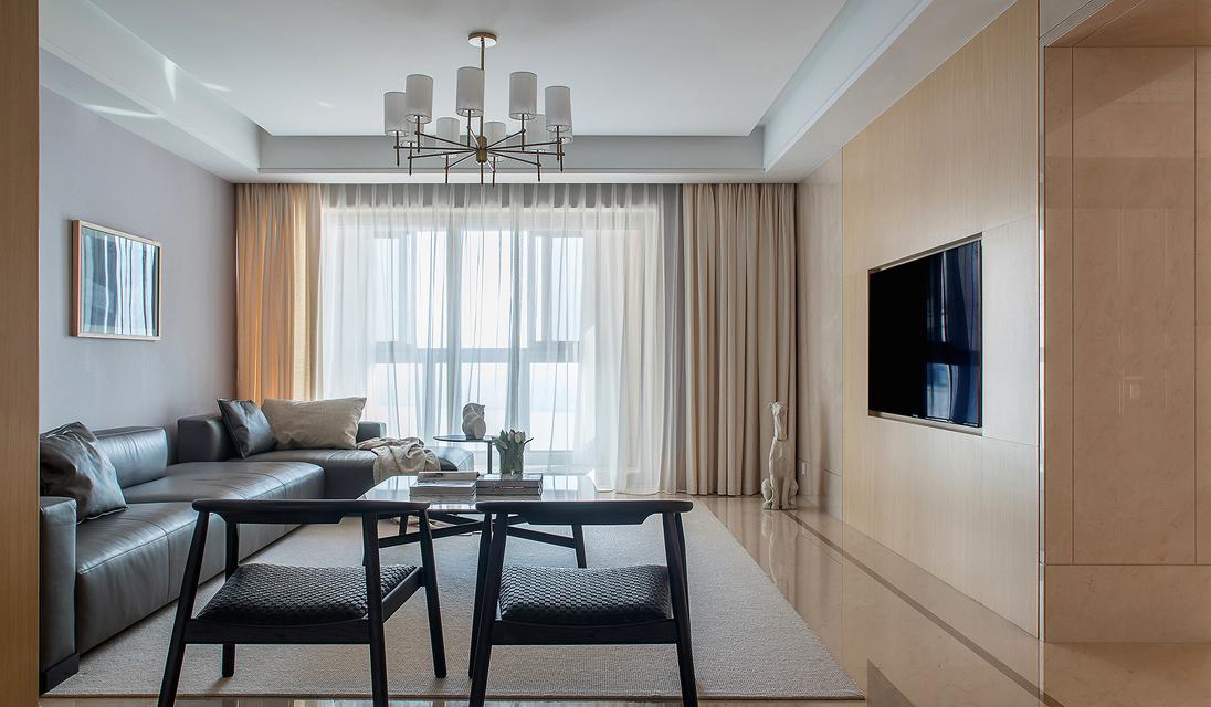 简约 四居 客厅图片来自言白设计在静谧的优雅的分享