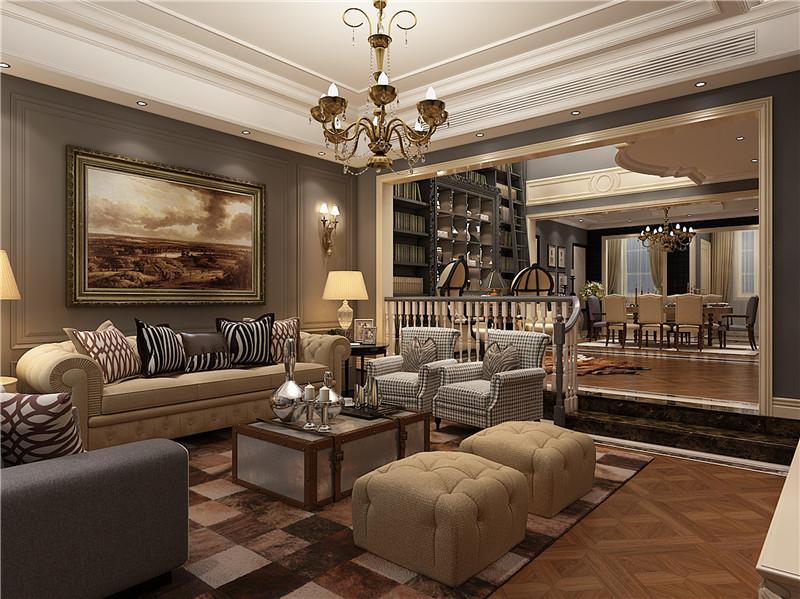 湖山在望 别墅装修 新中式 腾龙设计 客厅图片来自孔继民在湖山在望花园别墅新中式风格的分享