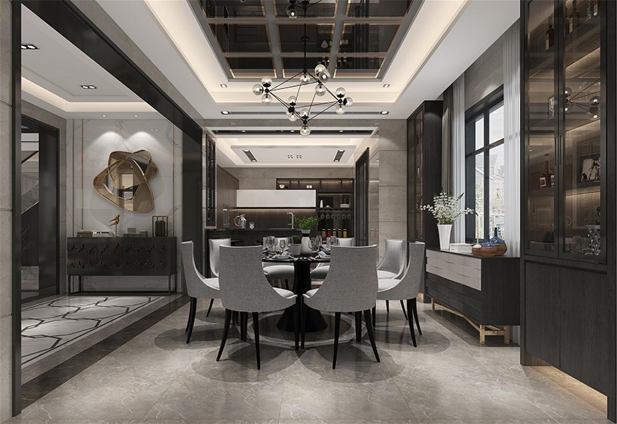 汤臣高尔夫 别墅装修 新中式风格 腾龙设计 餐厅图片来自孔继民在汤臣高尔夫别墅装修新古典设计的分享
