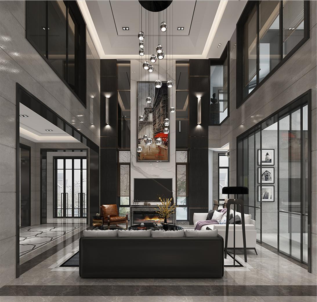 汤臣高尔夫 别墅装修 新中式风格 腾龙设计 客厅图片来自孔继民在汤臣高尔夫别墅装修新古典设计的分享