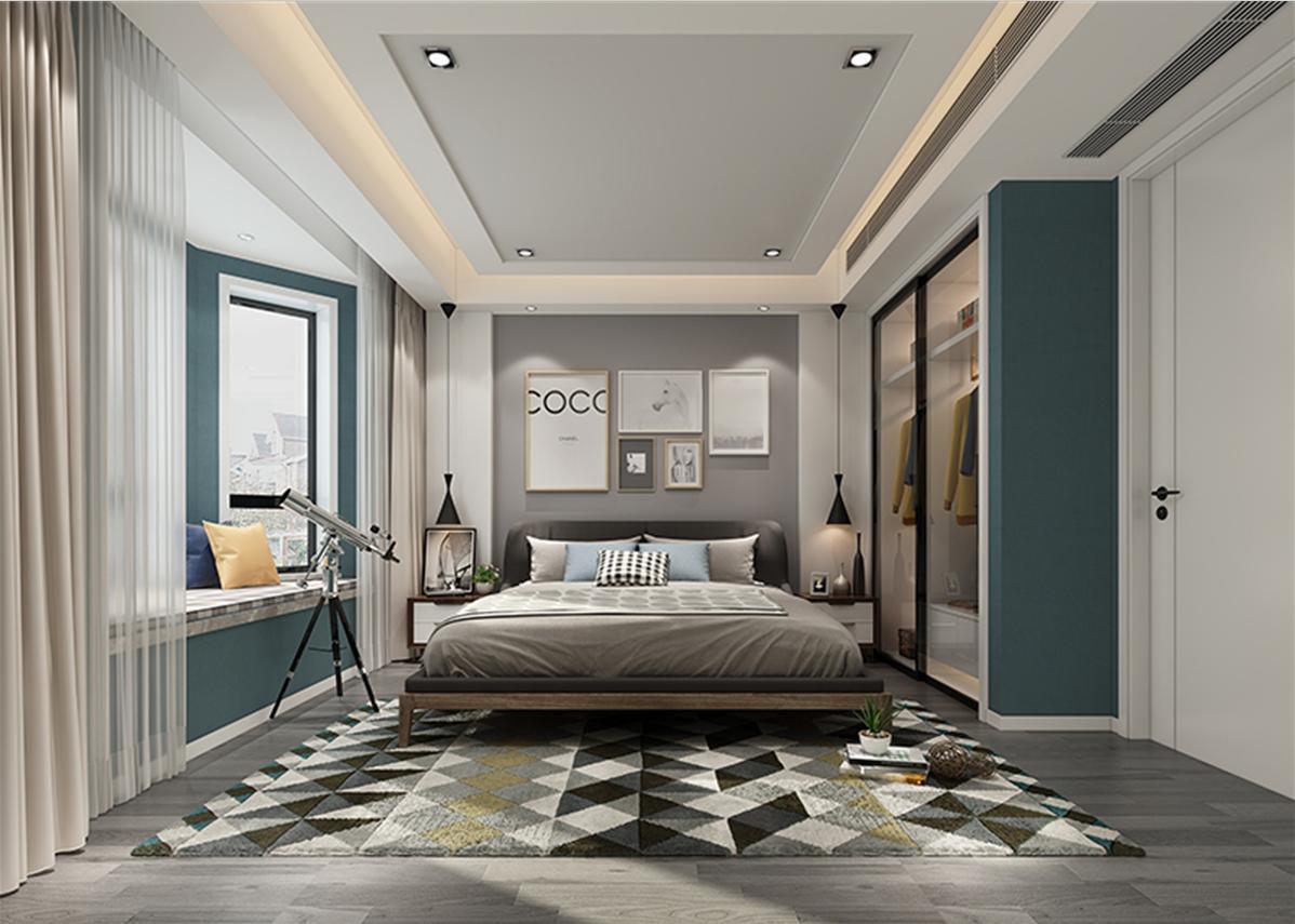 汤臣高尔夫 别墅装修 新中式风格 腾龙设计 卧室图片来自孔继民在汤臣高尔夫别墅装修新古典设计的分享