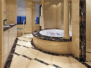 路劲翡丽湾 别墅装修 新古典 腾龙设计 卫生间图片来自腾龙设计在路劲翡丽湾350平别墅新古典设计的分享