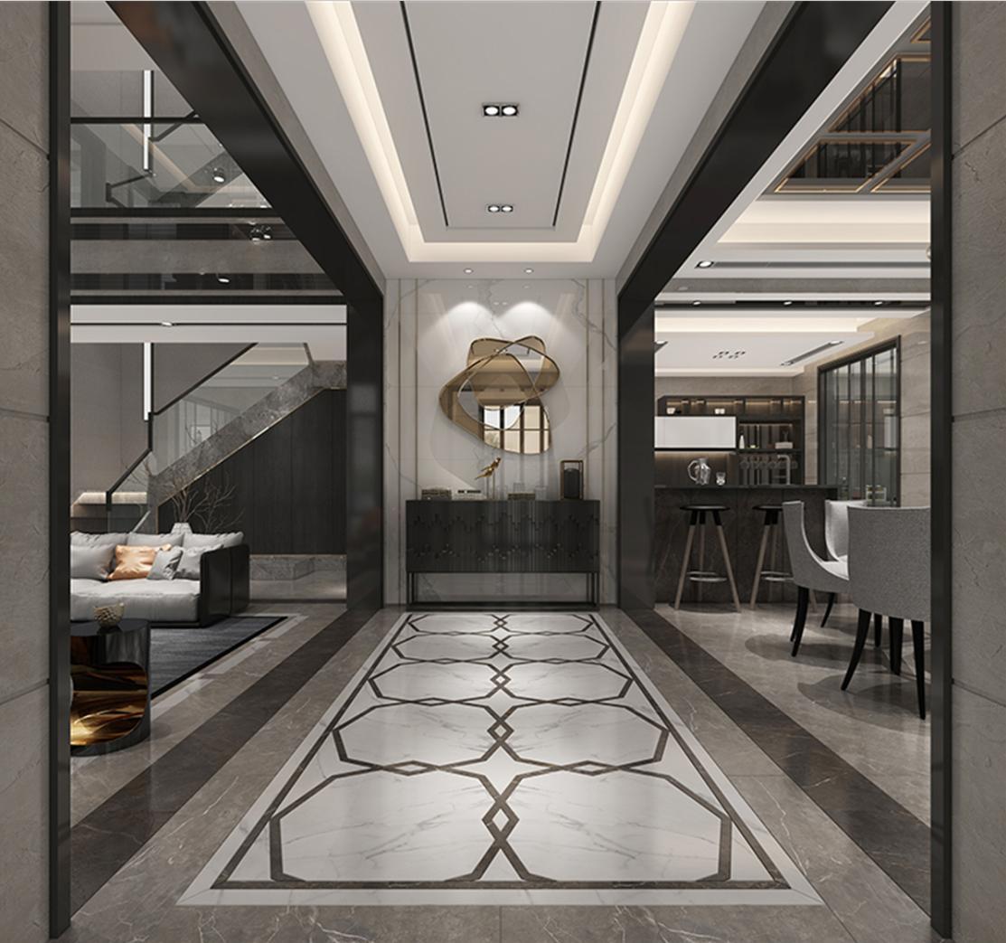 汤臣高尔夫 别墅装修 新中式风格 腾龙设计 玄关图片来自孔继民在汤臣高尔夫别墅装修新古典设计的分享