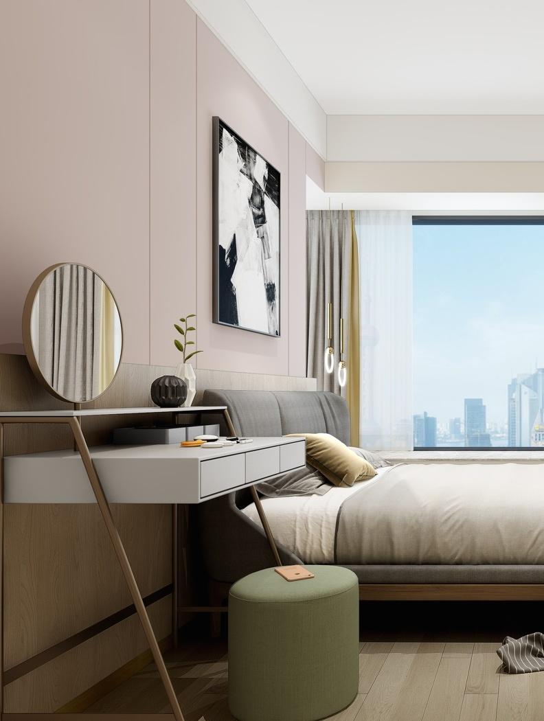 卧室图片来自言白设计在北欧之家的分享