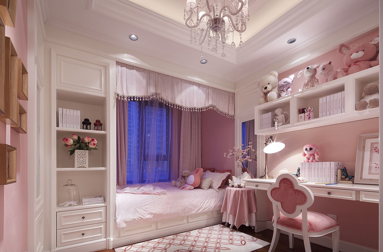 美式 复式 跃层 大户型 别墅 80后 小资 儿童房图片来自高度国际姚吉智在280平米美式轻奢格调复式楼的分享