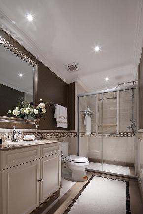 美式 复式 跃层 大户型 别墅 80后 小资 卫生间图片来自高度国际姚吉智在280平米美式轻奢格调复式楼的分享
