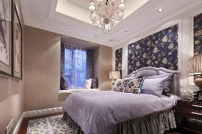 美式 复式 跃层 大户型 别墅 80后 小资 卧室图片来自高度国际姚吉智在280平米美式轻奢格调复式楼的分享