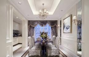 美式 复式 跃层 大户型 别墅 80后 小资 餐厅图片来自高度国际姚吉智在280平米美式轻奢格调复式楼的分享